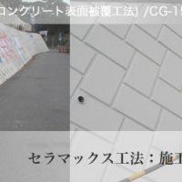 落書き防止塗料:施工前・施工後写真:神奈川県大磯防護棚